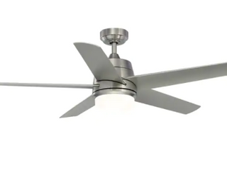 Berlin   52 inch   Brushed Nickel with Brushed Nickel Blades and lED  Retail 179 56
