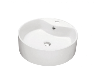 Dawn Vessel Above Counter Round Ceramic Art Basin with single hole for faucet and Overflow  Retail 81 48