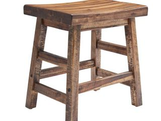20  Durango Industrial Wood Counter Height Barstool Dark Brown   Alaterre Furniture