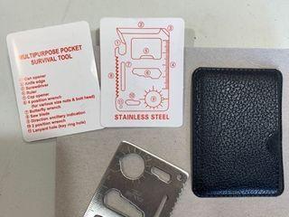 Stainless Steel multi purpose pocket survival tool