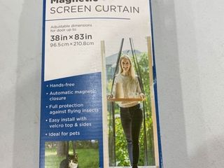 Md Magnetic Black Screen Curtain For Doors 38inx83in Easy Install Opened Box