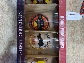 Home Pubs Select 16oz Pint Glasses 4 Piece Set  apo 45 3