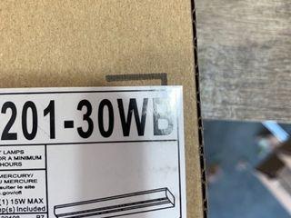 Progress lighting P7201 30WB White Acrylic Diffuser with White Metal Housing  White