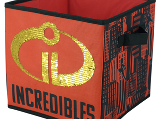 The Incredibles Reversible 2 Pack Sequin Storage Cube