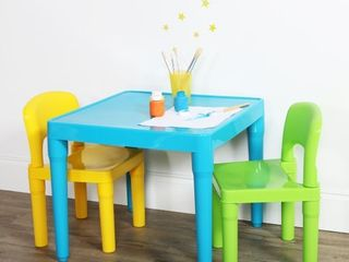 Kids Plastic Table   2 Chairs   Humble Crew