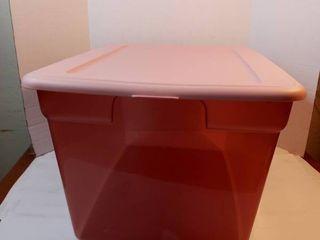 Pink Sterilite Storage bin 58QT   55l