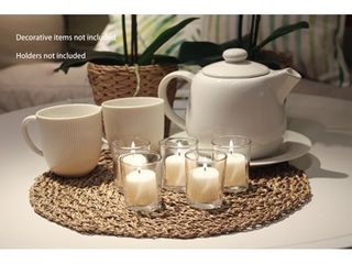 Mainstays Unscented Votive Candles with Holders  Ivory  12 Pack