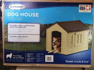 Suncast Dog House for Dogs up to 70 lbs
