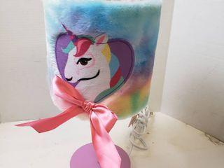 Unicorn lamp Pink Ribbon Rainbow Colors