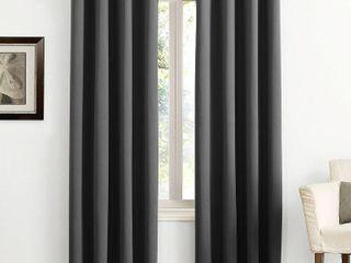 95 x54  Kenneth Energy Saving Blackout Grommet Top Curtain Panel Black   Sun Zero
