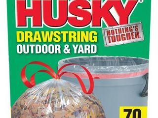 Husky 39 Gal Drawstring 70 Ct Clear Yard Bag