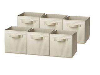 Sorbus Cube Storage Box Beige