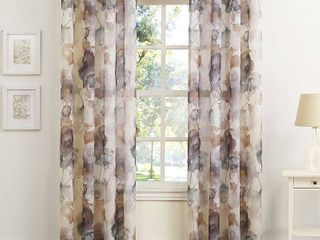 84 x51  Andorra Floral Print Crushed Voile Grommet Top Curtain Panel Multi   No  918