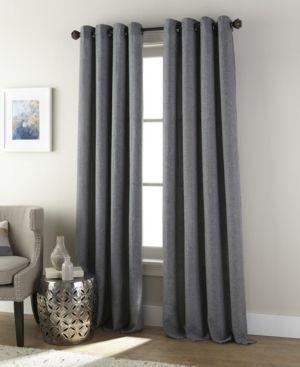 Nanshing Ephron Grommet Single Curtain Panel  Grey  54 x 84