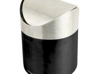 Mind Reader Mini Counterop Trash Can with lid  Small Desk Recycling Trash Bin Kitchen Desktop Bathroom Office Wastebasket 1 5 l   0 40 Gal