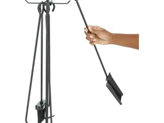 Mind Reader 4 Piece Stand Alone Steel Fireplace Tools