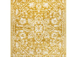 Well Woven Dazzle Disa Gold Vintage Medallion Oriental 5 3  x 7 3  Area Rug