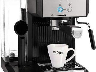 Mr  Coffee Bvmcecmp70 CafAc Steam Automatic Espresso   Cappuccino Machine  Silver