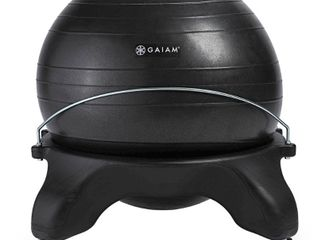 Gaiam Backless Balance Ball Chair   Black