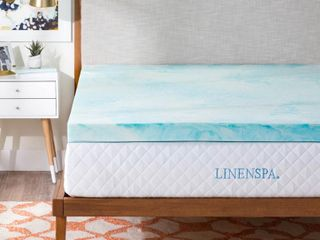 linenspa 3  Gel Swirl Memory Foam Topper