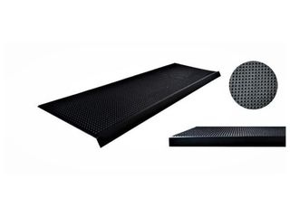 Rubber Black Pin 10 in  x 30 in  Stair Tread Cover  5 Pack