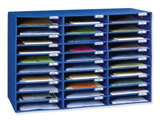 Classroom Keepers 30 Slot Mailbox  Blue  21 H x 31 63 W x 12 75 D Piece