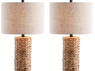 Jonathan Y Elicia 25  Sea Grass led Table lamp   Set of 2