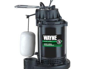 Wayne CDU790 1 3 Horsepower Cast Iron Submersible Sump Pump