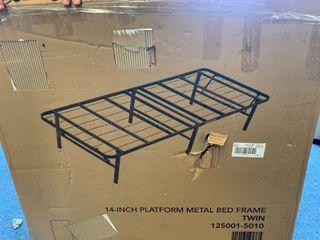 14a Platform Metal Bed Frame   TWIN