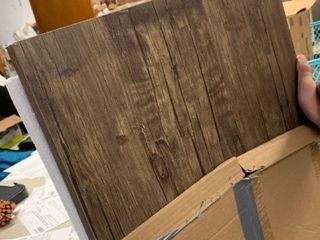 Folding Metal and Wood Desk