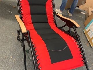 Red and Black Recliner Chair