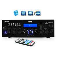 Pyle PDA6BU Pyle Bluetooth Stereo Amplifier Receiver