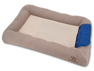 Best Pet Supplies  Inc  Cooling Pet Bed with Removable Self cool Gel Mat for Dog Cat   Taupe  large  36 x 24 x 5