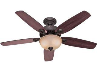 52  lED Builder Ceiling Fan  Includes Energy Efficient light Bulb  Bronze   Hunter