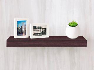 Way Basics 24  Eco Wall Shelf   Floating Shelf  Espresso   Formaldehyde Free   lifetime Guarantee