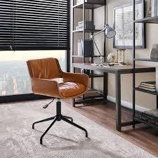 Carbon loft Nasim Height adjustable Swivel Accent Home Office Desk Chair  Retail 163 99 brown