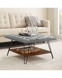 Carson Carrington 30  Square Tufted Seat Ottoman  Retail 180 09 grey