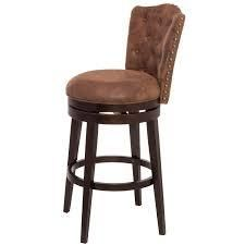 Gracewood Hollow Susic Tufted Brown Swivel Counter Stool  Retail 188 61 brown
