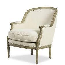 Savannah Hard Carved linen Accent Chair  Retail 641 49 cream