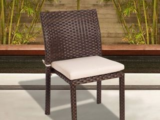 Popham Wicker Stacking Chair  Set of 4  by Havenside Home  Retail 443 49