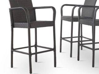 Delfina Outdoor Wicker Barstool set of 2 only