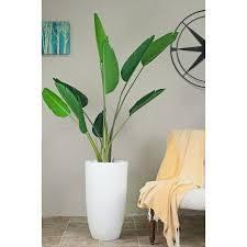 large Tall Mid century Modern Planter Fiber Clay 13  Pot  Retail 94 49 white