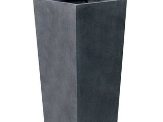 Tapered Stone Finish Tall Planter  Retail 85 99