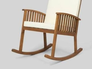 Casa Outdoor Acacia Wood Rocking Chair 1 only