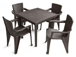 mw infinity expresso patio chairs set of 4 plastic
