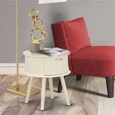 East West Furniture GONE05 Gordon night stands for bedrooms with Drawer  1 Pc  with Finish Options  Retail 118 98 white