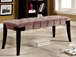 Furniture of America Oran Contemporary Fabric Tufted Accent Bench  Retail 202 49