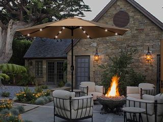 Maypex 9 Feet Solar led lighted Patio Umbrella only Retail 94 99