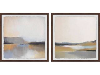 Marmont Hill   Handmade Gray Dunes Diptych   Multi color  Retail 263 49 2 boxes