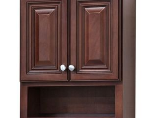 Grand Reserve Cherry Bathroom Wall Cabinet  Retail 297 49 cracked as is